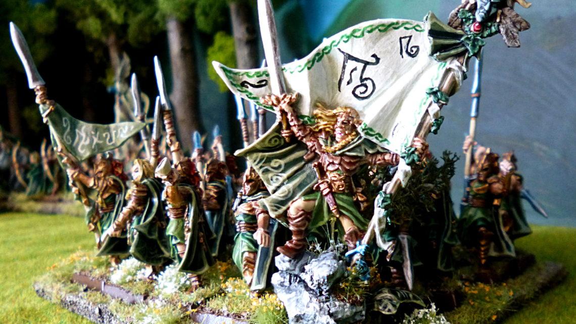 Les lanciers de la Garde Éternelle et le porteur de la Grande Bannière