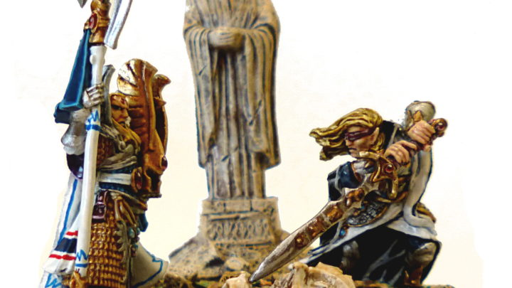 Eltharion l'Aveugle et Caradryan, capitaine de la Garde Phoenix des hauts elfes