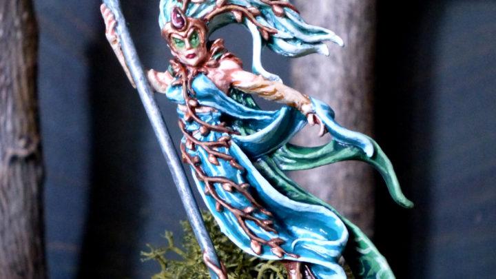 Enchanteresse elfe sylvain avec bâton