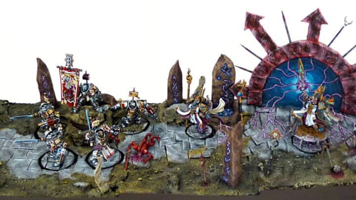 Paladins des Chevaliers Gris (Grey Knight) et sorciers exaltés des Thousand Sons