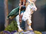 Une demoiselle à licorne qui ne joue pas à saute mouton !