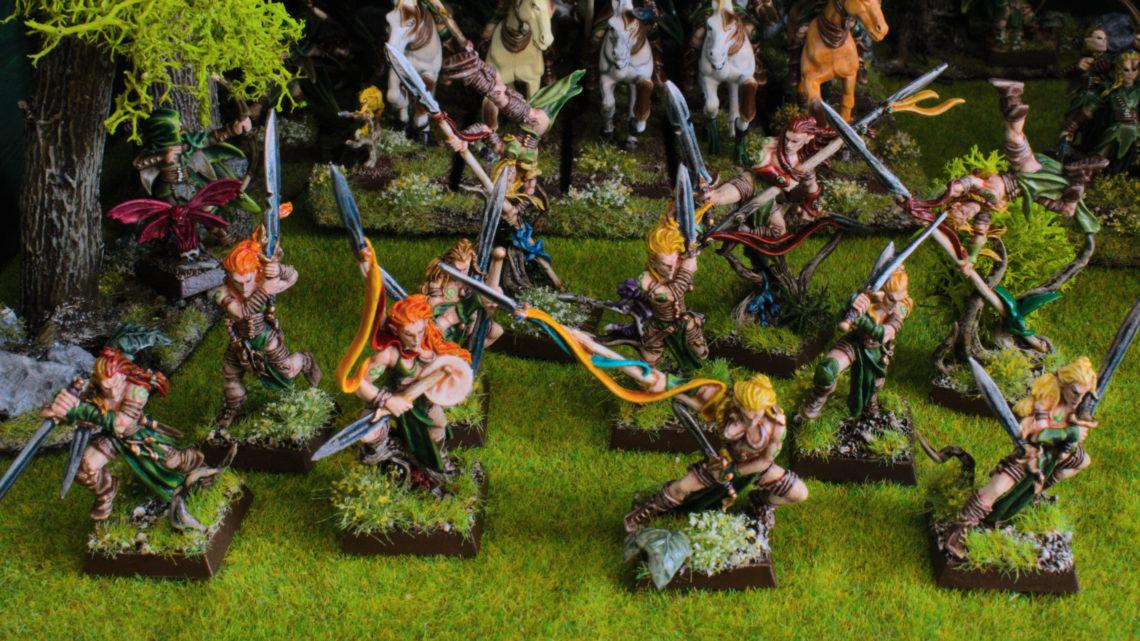 Danseurs de guerre elfes sylvains