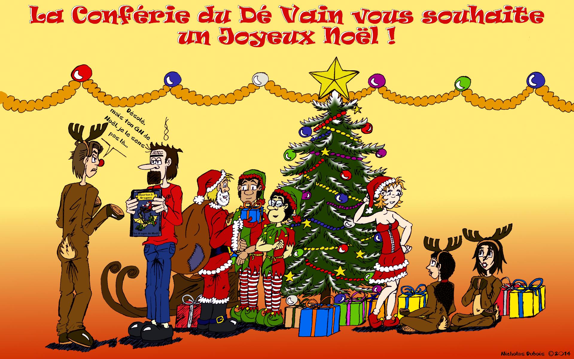 A Noël ! N'oubliez pas de jeter les dés !